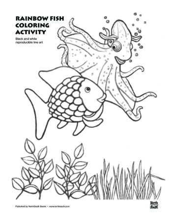 Rainbow Fish Template - Coloring Home   450x354